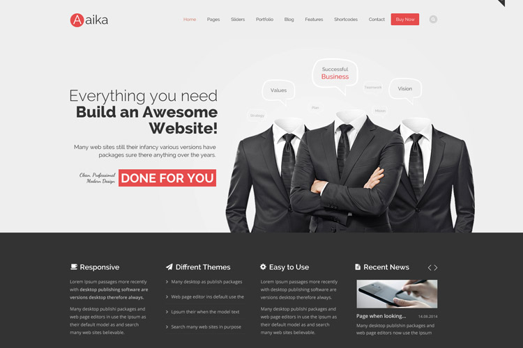 hundreds of web templates to choose from